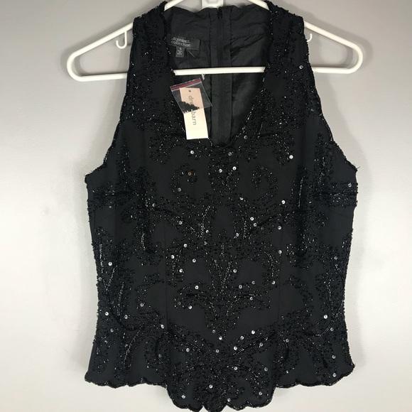 0efdda58a27 NWT Dress Barn Formal Sequins Top Size Small